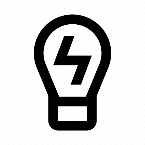 electricity, light, lightbulb, power icon