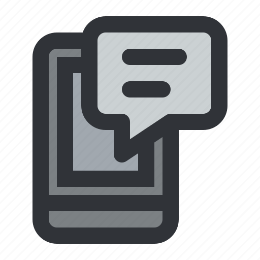 chat, communication, device, message, mobile, smartphone icon