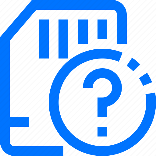 card, devices, hardware, memory, questions, sd, unknown icon
