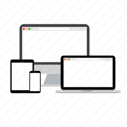 computer, devices, laptop, phone, safari, tablet icon