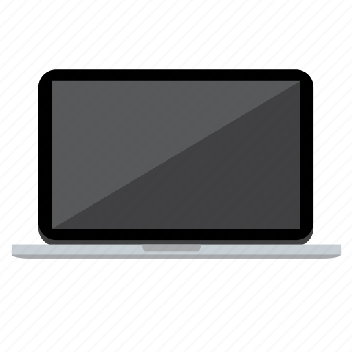 computer, device, laptop, macbook, shadow icon