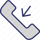 calling, incoming call, phone call, phone receiver, receiver icon