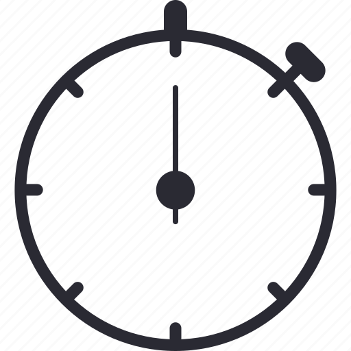 chrono, chronometry, countdown, referee, stopwatch, timepiece, timer icon