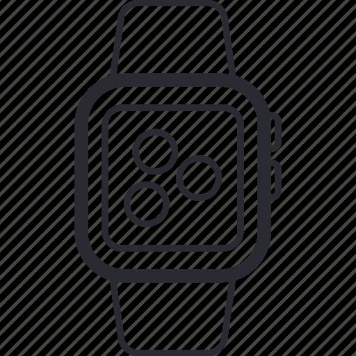 apple, clock, device, iwatch, smart, watch, wearable icon
