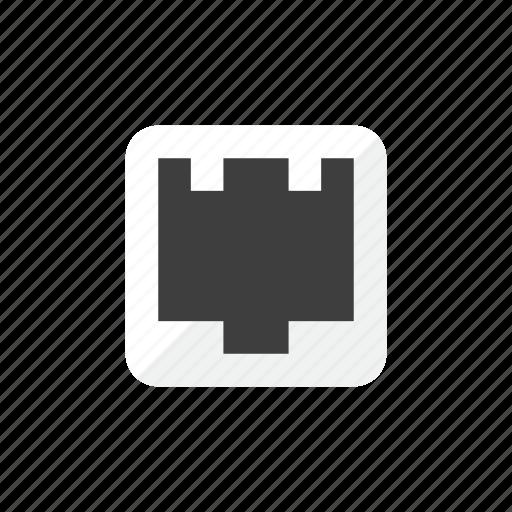 connector, lan icon