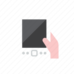 hand, tablet icon
