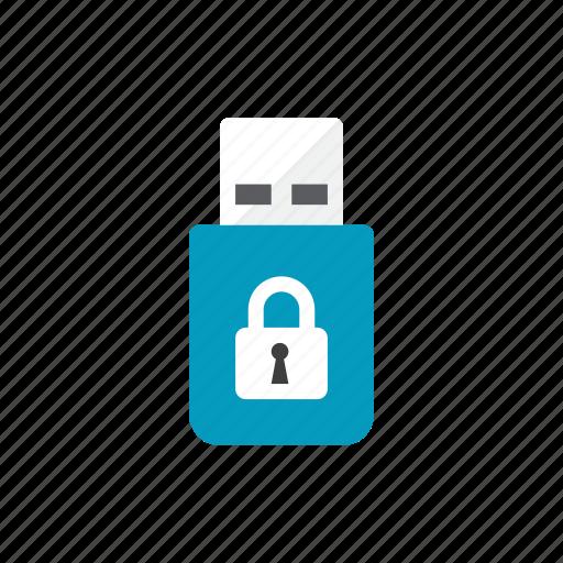 lock, usb icon