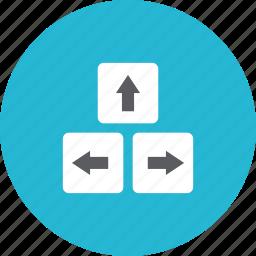 arrows, key icon