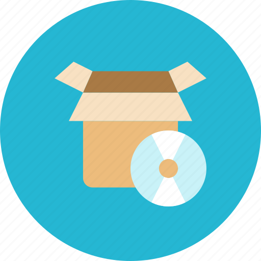 box, cd icon