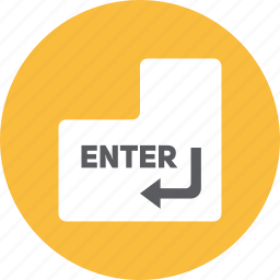 enter, key icon