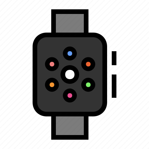 apple, device, media, smart watch, watch icon
