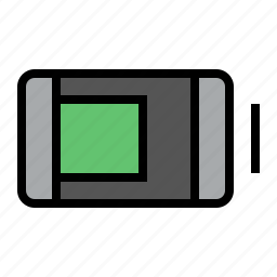 battery, charge, device, energy, media icon