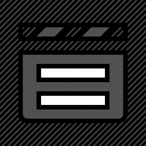 cinema, clapper, device, film, media, movie icon