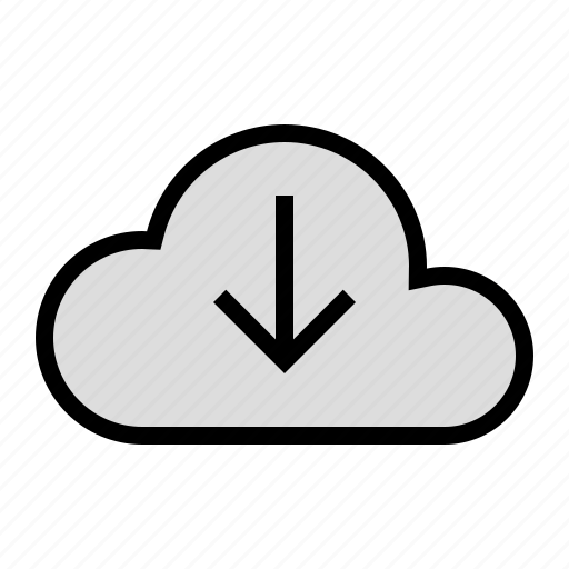 cloud, device, download, media, storage icon