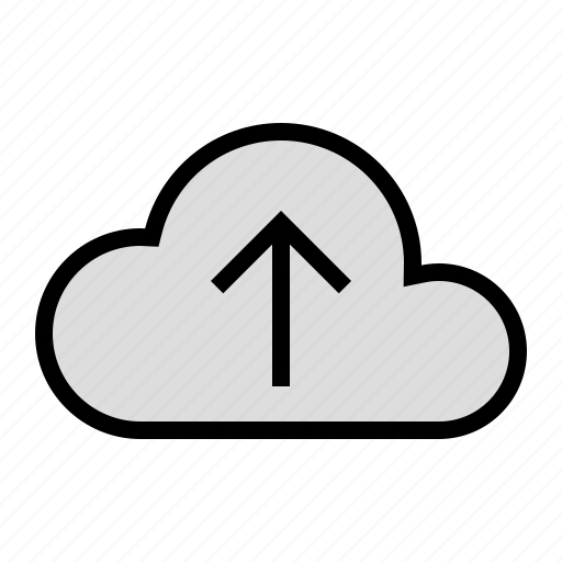 cloud, device, media, storage, upload icon