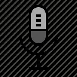 audio, device, media, microphone, record, sing, talk icon