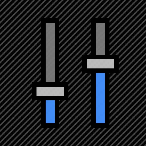 controls, device, equalizer, media, mixer, slider icon
