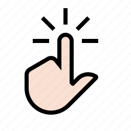 device, finger, gesture, media, tap, touch screen icon