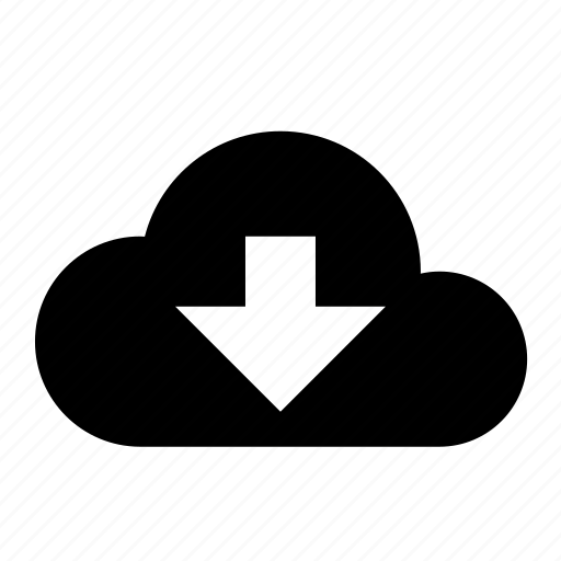 cloud, devices, download, media icon
