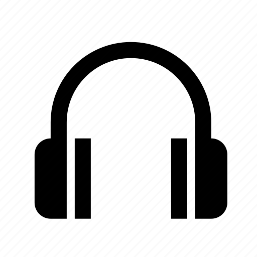 devices, headphones, media icon