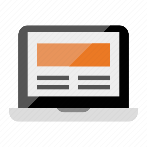 computer, laptop, macbook, portable, responsive icon