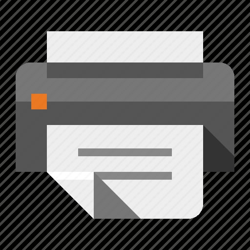 device, equipment, fax, laser, office, printer icon