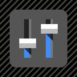 audio, controls, equalizer, mixer, slider, sound, volume icon