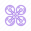 copter, device, drone, gadget, nanocopter, quadrocopter, robot icon