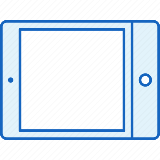 apple, communication, device, horizontal, ipad, tablet, technology icon