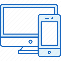 apple, connection, devices, pc, screen, smartphone icon