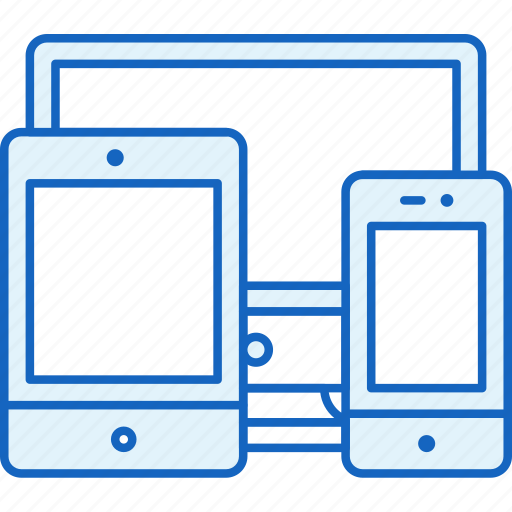 Smartphone, apple, tablet, devices, pc, connection, responsive icon