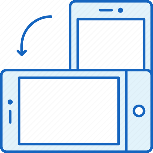 apple, device, iphone, rotate, smartphone, technology icon