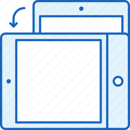 apple, device, ipad, rotate, tablet, technology icon