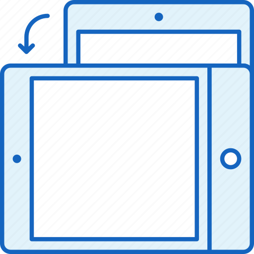 Ipad, rotate, apple, tablet, device, technology icon