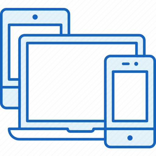 Smartphone, apple, tablet, laptop, devices, connection, responsive icon