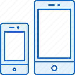 apple, connection, devices, iphone, sizes, smartphone icon