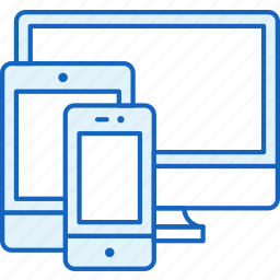 apple, connection, devices, pc, responsive, smartphone, tablet icon