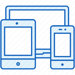 apple, connection, devices, laptop, responsive, smartphone, tablet icon