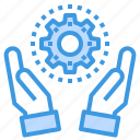 device, hand, management, service, technology icon