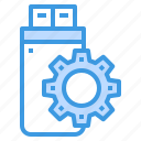 data, device, fixed, service, technology, thumbdrive icon