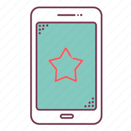 devices, favorite, mobile, phone, sign, smartphone, star icon