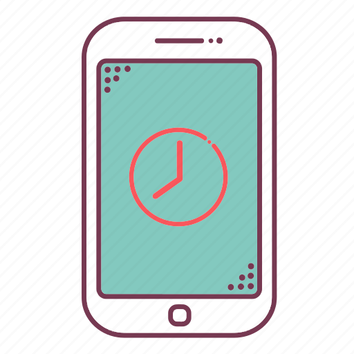 cellphone, devices, mobile, phone, sign, smartphone, time icon