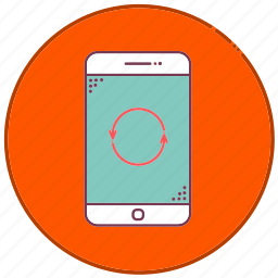 arrow, devices, loop, mobile, phone, sign, smartphone icon