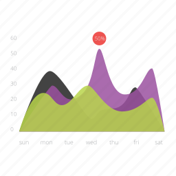area, business, chart, data, diagram, information, report icon
