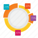 business, chart, data, diagram, doughnut, information, pie icon