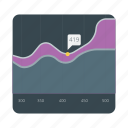 area, business, chart, data, diagram, information, stacked icon