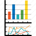 analytics, bar, chart, diagram, economics, finance, graph icon