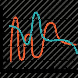 analytics, bar, chart, communication, diagram, down, economics icon