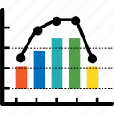 analytics, chart, colorful, diagram, ecommerce, financial, graph icon