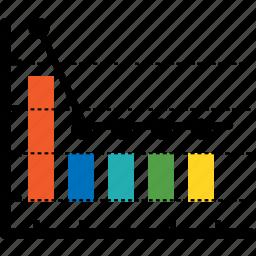 analytics, bar, chart, communication, diagram, economics, finance icon